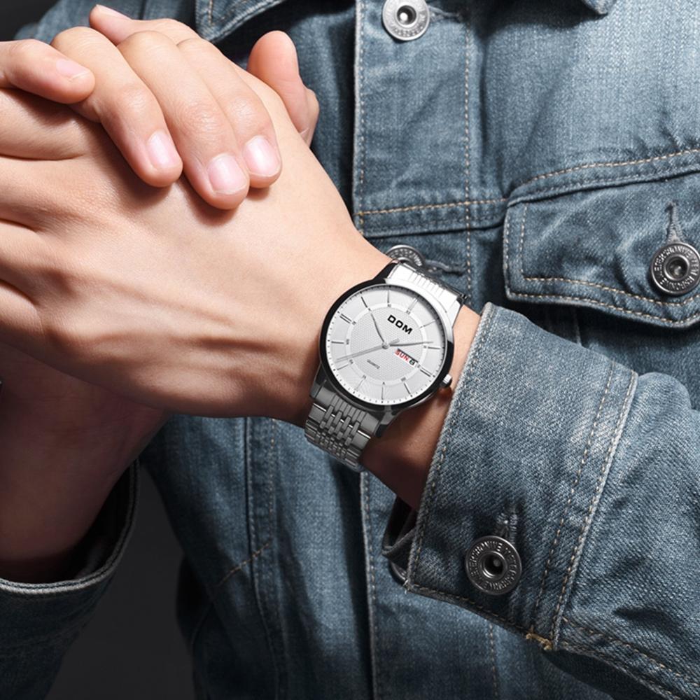 DOM Watches Fashion Men Top Brand Luxury Mens Strap Wristwatches Men's Quartz Sports Watches relogio masculino M-11D-7M