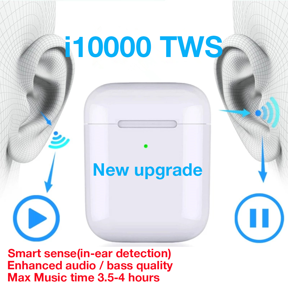 I10000 <font><b>TWS</b></font> Headphone Bluetooth 5.0 Earphone Wireless Charging Mini Earbuds 1:1 Replica Sport Headset For Smart Phone PK i9s <font><b>i10</b></font> image