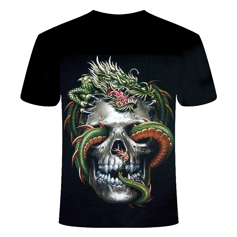 Drop Ship Summer NewFunny skull 3d T Shirt Summer Hipster Short Sleeve Tee Tops Men/Women Anime T-Shirts Homme Short sleeve tops 25