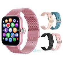 Full Touch Smart Uhr Frauen Männer Smartwatch Wasserdicht Herz Rate Fitness Armband Uhr Für Android iOS Sport Smart-Uhr stunden