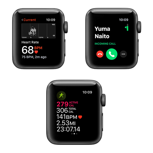 Original Apple Watch Series 3 Used  38MM/42MM GPS 90% New White and Black and Pink iWatch 3 Aluminum Case Sport Band Smart watch 6