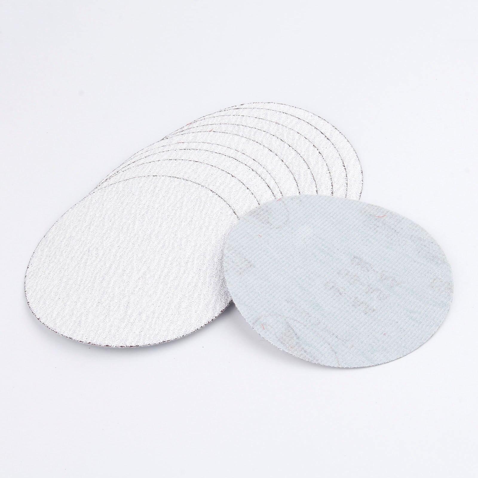 Dophee 10Pcs 5inch 125mm Sandpaper Disk Round Alumina Grinding Polishig Sanding Disc Grit 80/320 Sander Sand Paper