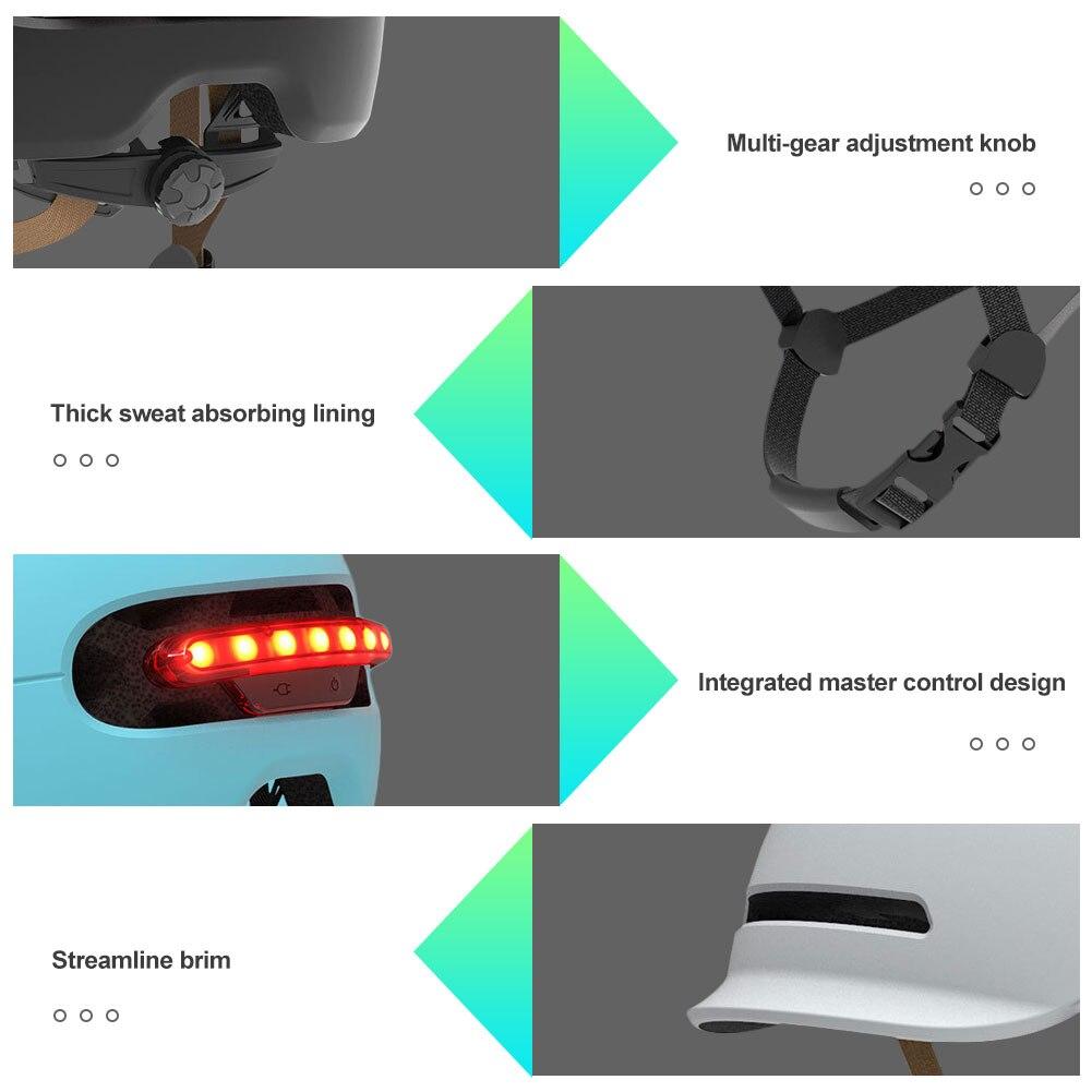 Inteligentny kask elektryczny skuter rowerowy balans kask LED automatyczne oświetlenie ostrzegawcze kask motocyklowy akcesoria motocyklowe