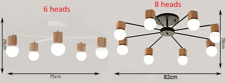 H6c3e26a9ce15493f8cf8d1eeced58bd6o Nordic iron wood ceiling Light Modern home Living Room Bedroom aisle LED Ceiling Lamp Luminaire Lampara Techo