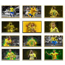 World Football Star Neymar Character Painting Picture Print Poster Mural For Home Living Room Art Wall Decoration Accessories