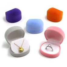 Simple Women Necklace Ring Earrings Case Lady Jewelry Round Display Box Valentine Day Gift 2016 pendant ring box jewelry display storage foldable case for wedding ring earrings bracelet valentine s day gift organizer