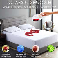 LFH 160X200cm Wasserdicht und Fleck Beständig Matratze Protector Bett Bug Beweis Waschbar Hypoallergen Matratze Deckt