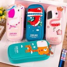 Lovely Animal Nylon Waterproof Pencil Case Unicorn Box Cartoon Stationery Will Capacity