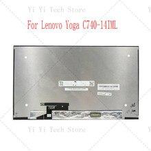 14.0 Polegada portátil yoga c740 14 C740-14 montagem para lenovo b140han06.4 NV140FHM-N65 fhd 1920p painel lcd com tela de toque