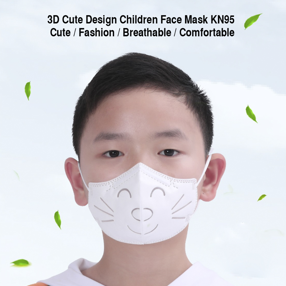 10pcs KN95 Mask Respirator For Kids N95 Reusable Breathing Face Mask Protective Masks Dust PM2.5 Haze Dustproof Mouth Mask