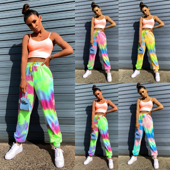 New European And American Women s Wear Tie Dye Fashion Loose Casual Sports Pants Trend In Summer Autumn 2020