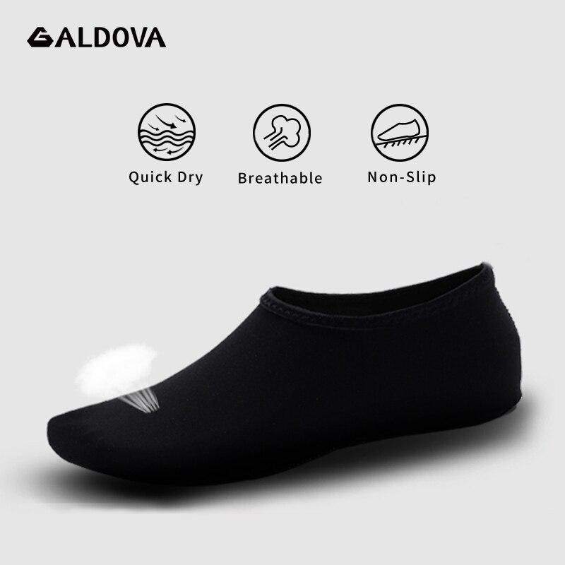 ALDOVA Beach Shoes Non-Slip Breathable Barefoot Summer Water Aqua Swimming Sea Skin Socks Slippers For Woman Men Zapatos Hombre
