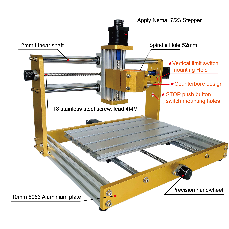 CNC Metal Frame CNC Wood Router/Pcb Milling Machine 1