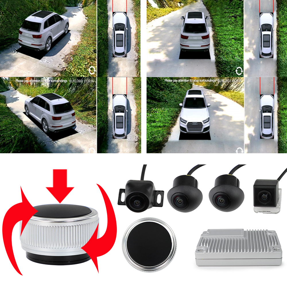 Panoramic-Camera Dvr-System Parking-Monitor Output-Support Surround-View Bird-Eye 360-Degree