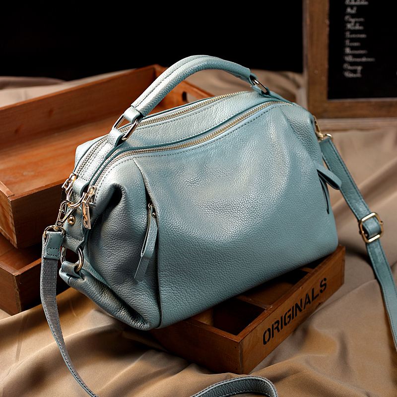 2020 Luxury Women Tote Handbags 100% Genuine Leather Ladies Boston Shoulder Bags High Quality Female Top Handle Messenger Bags