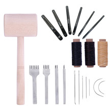 1 компл. Удар швейная нить ручной стежок DIY кожа ремесла набор инструментов