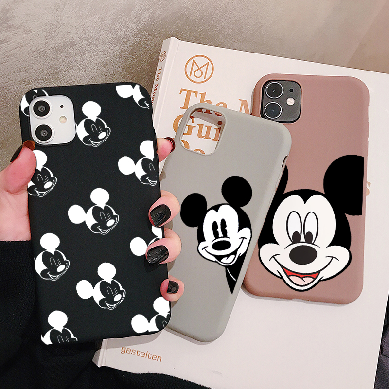 Cartoon Mouse Phone Case For Huawei P30 P20 P10 Pro Lite Plus Frosted Silicone Cases Soft Back Cover