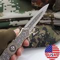 Складной нож Super PDR, охотничий Клинок для выживания на природе, карманный, с деревянной рукояткой из нержавеющей стали, для кемпинга