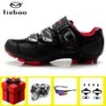Tiebao  обувь для велоспорта  набор педалей SPD  sapatilha ciclismo  mtb  обувь для горного велосипеда  Мужские дышащие кроссовки chaussure vtt