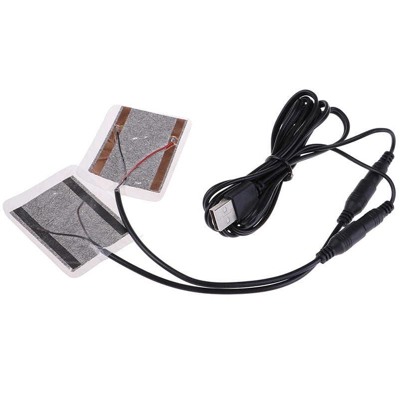2Pcs Heizung Pads Mit Kabel 5W USB Heizung Handschuhe Biegsamen Heizung Film DIY Warme Hand für Handschuh Pad füße