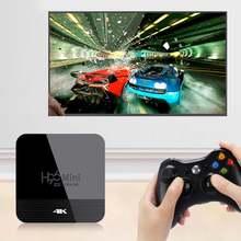 Портативный двухэкранный ТВ приставка h96mini с wi fi медиаплеер
