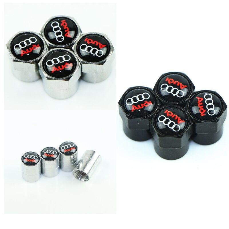 4 sztuk samochodów opon zawór koła nakładki ochrony klosz do Audi a3 a4 a5 a6 a7 a8 b5 b6 b7 b8 c6 c7 c8 8v 8p akcesoria samochodowe