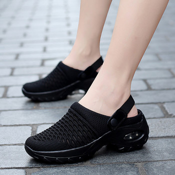 2020Summer women Sandals Beach Water Shoe Wear-resistant Anti-slip Large Size Retro Wedge Sports Sandal Comfortable Mules Slides