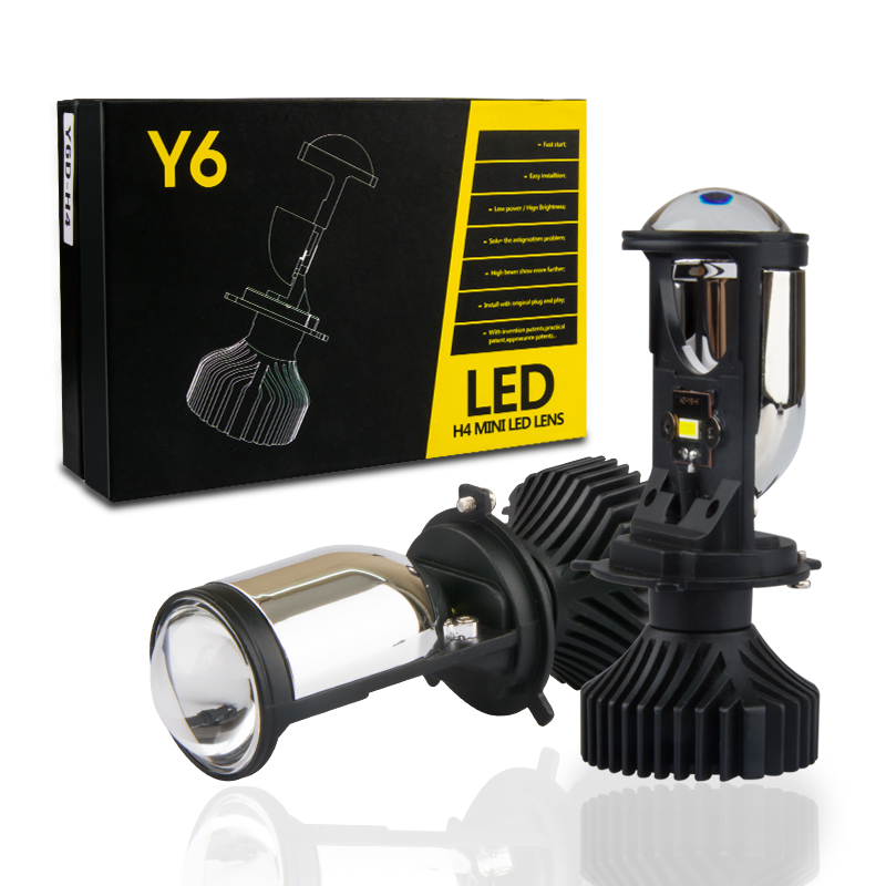 90W/Pair H4 LED Mini Projector Lens Conversion Kit Hi/Lo Beam Headlight Automobiles Bulb LHD 12V 24V