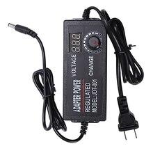 Promocja-regulowany uniwersalny Adapter Ac do Dc 3V-12V z ekranem wyświetlacza napięcie zasilacz regulowany Adatpor 3 12 V(Us P