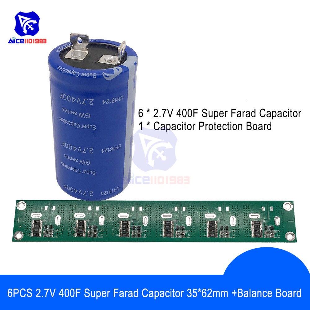 2pcs 2.7V 700F Automobile Car Super Farad Capacitance Capacitor 35*105 mm Black