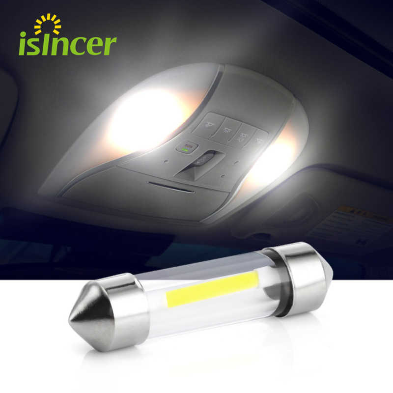 1 Stuk C5W Cob Auto Led Lampen Interieur Festoen Dome Leeslamp 41 Mm 39 Mm 36 Mm 31 Mm bron Wit Side Kenteken Lamp 12V