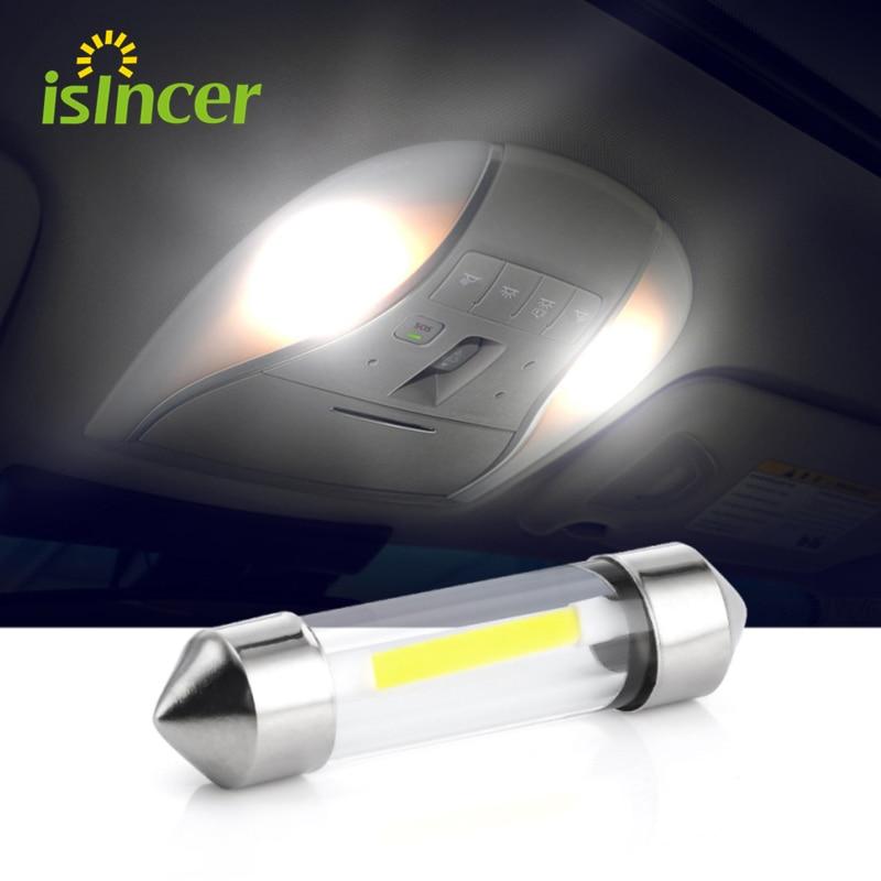 1 Piece C5W COB Car Led Bulbs Interior Festoon Dome Reading Light 41mm 39mm 36mm 31mm Source White Side License Plate Lamp 12V