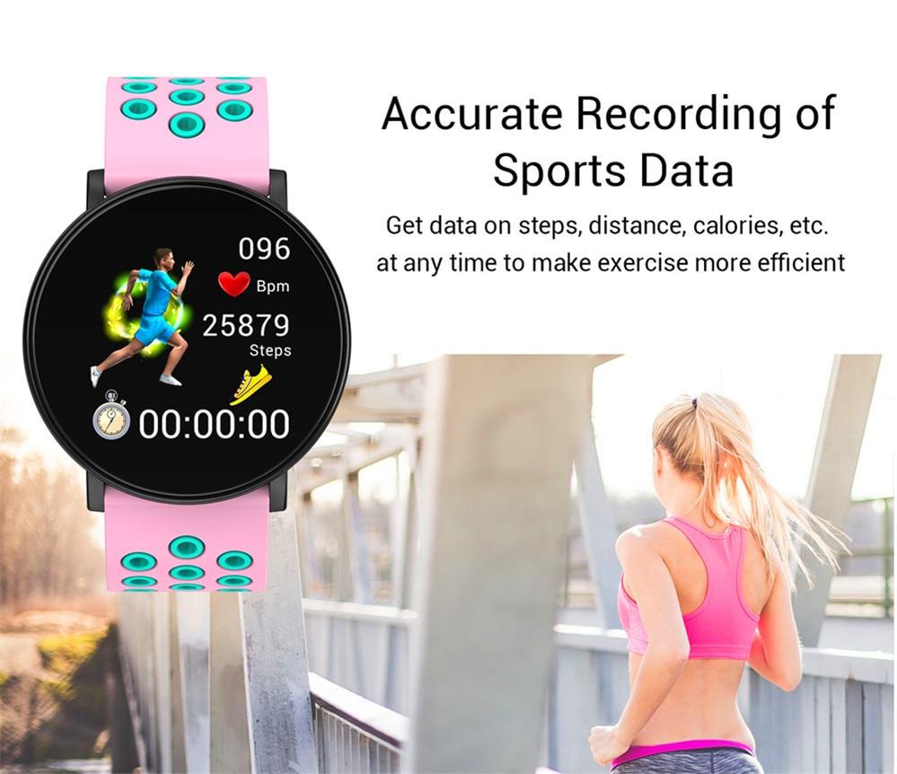 H6c3fc55d329449e4b0aede54765fcd36e Smart Fitness Bracelet Blood Pressure Measurement Fitness Tracker Waterproof IP67 Smart Band Watch Heart Rate Monitor Pedometer
