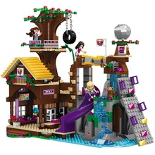 Building Blocks  Friends 41122 Bricks Adventure Camp Tree House with Figures Toys for Children стоимость