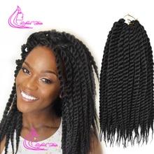 Рафинированные волосы 12 18 дюймов 12 корней Гавана Mambo твист крючком косы Ombre синтетическая оплетка для африканских плетения волос