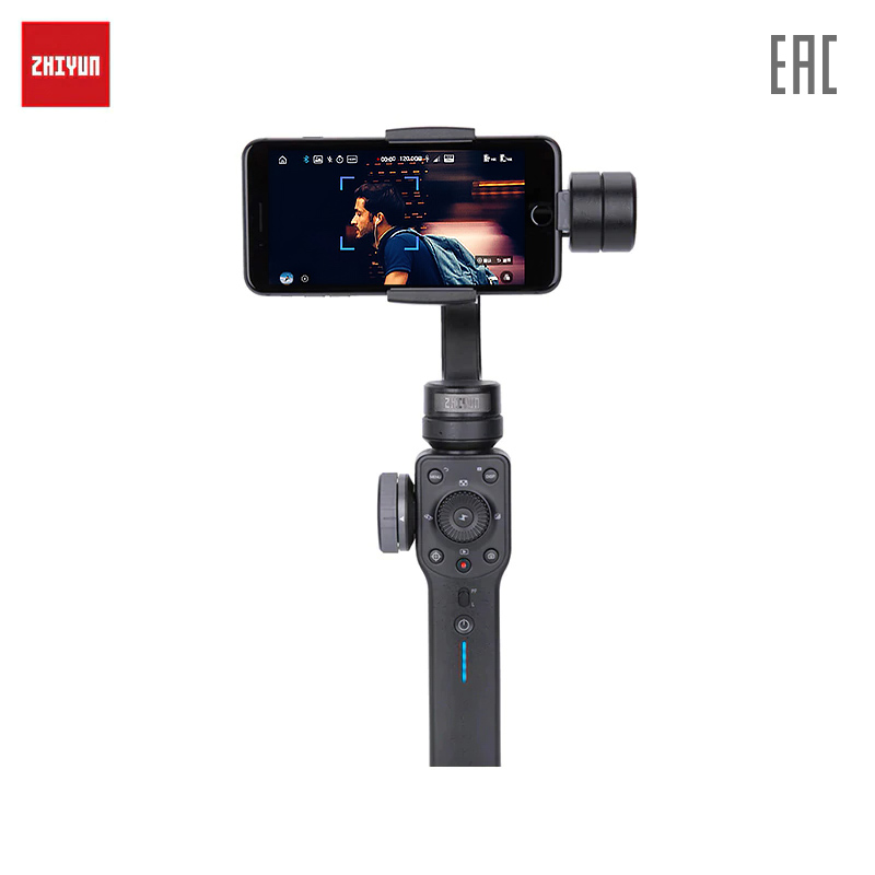 Stabilizer for smartphone Zhiyun Smooth 4 (black) zhiyun z1 smooth2 ii c rstorage bag mobile phone three axis gimbal gyroscope case stabilizer hard box for evolution pround