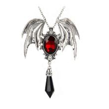 Bat Necklace Women Men Gothic Jewelry Bat Wings Crystal Pendant Necklace Long Women Accessories