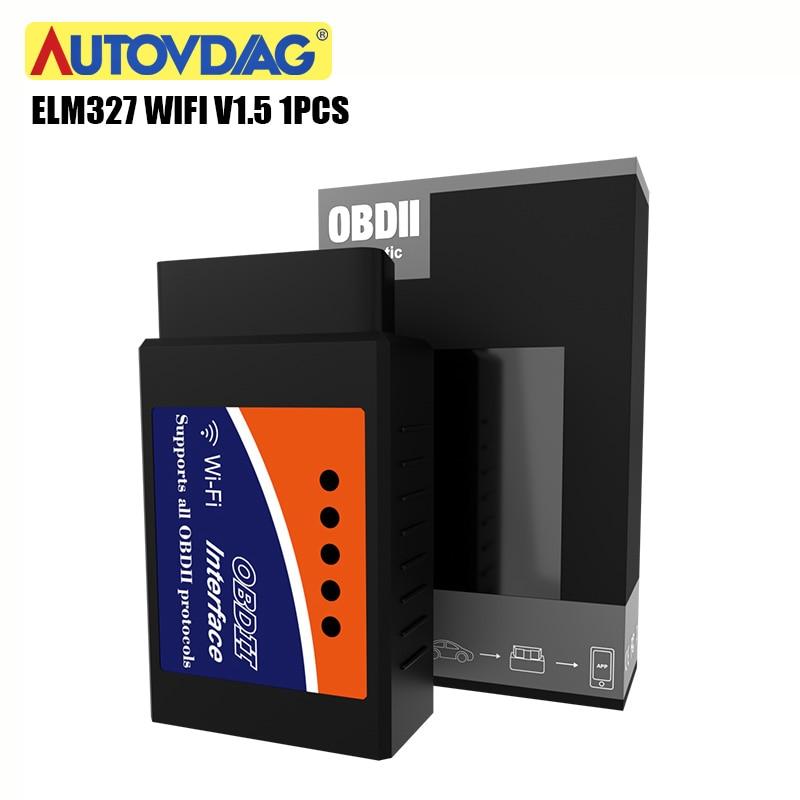 Car Accessories OBD2 ELM327 V1.5 OBD 2 Scanner Elm 327 V 1 5 OBDII Code Reader OBD WIFI 327 For Android/IOS Fast Shipping