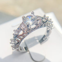 Christianity Jewelry Carved 925Sliver Bible Adam And Eve Elegant Hot Sell Crystal Rings For Woman Party Wedding Ring With Relief(China)