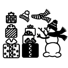 Naifumodo Snowman Metal Cutting Dies Merry Christmas for Craft Die Scrapbooking Embossing Stencil DIY Cut Card Decoration