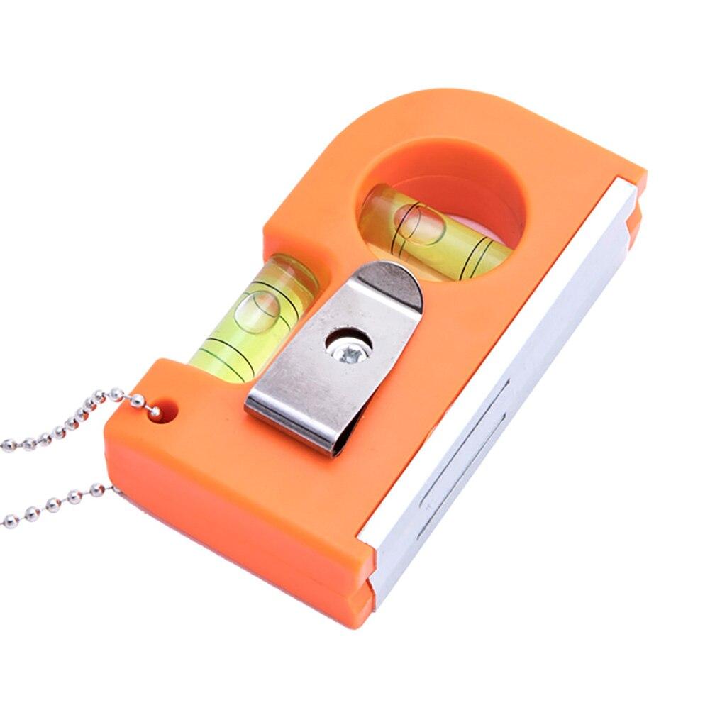 Mini Keychain Level Ruler with Magnet Base V Stripe Level Spirit Bubble Clamp