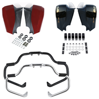 Motorcycle Mustache Engine Guard Bar Lower Fairing Kit For Indian Chieftain Vintage 2014 2018 Dark Horse Roadmaster Classic