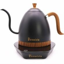 1 pc brewista artisan 일정한 온도 600ml 구즈넥 가변 온도 조절 주전자 커피 포트