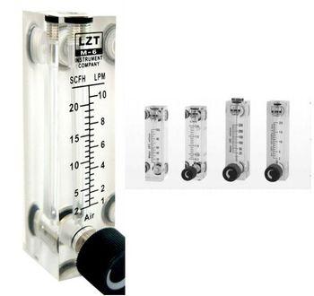 """PMMA przepływomierz gazu miernik przepływu powietrza 1/4 """"BSP kobieta kwadratowy Panel typu rotametr LZT-6T 0.1-1LPM 10-100LPM 1-10LPM 2-20LPM 0.5-5LPM"""