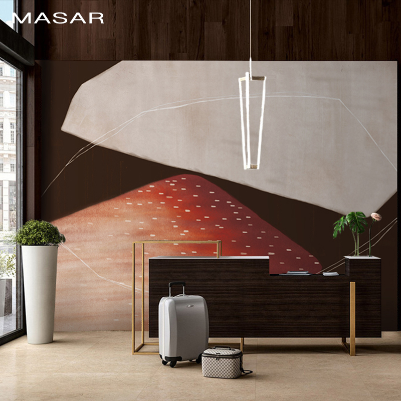 MASAR Original Abstract Art Mural Cartoon Pattern Color Wallpaper Children's Room Bedroom Dining Room Wallpaper Waterproof
