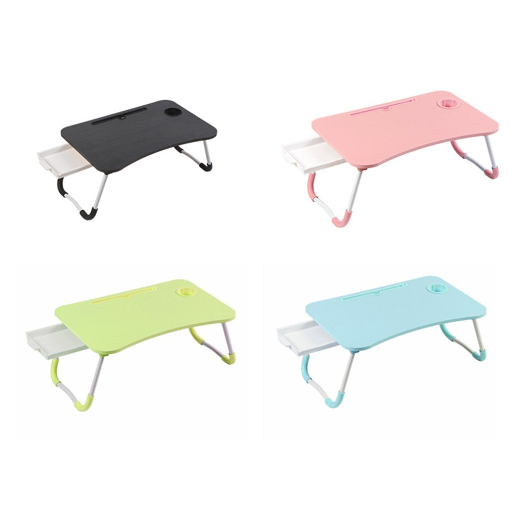 Foldable Laptop Desk For Bed Sofa With Adjustable Tilting Top Breakfast Serving Tray With Folding Legs Multi Function Table