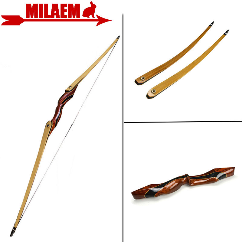 1pc 62inch Archery Longbow 25-55lbs American Hunting Bow Lamination Bow Limbs Training Taget Shooting Hunting Accessories