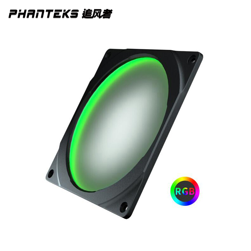 PHANTEKS Halo <font><b>140mm</b></font> <font><b>RGB</b></font> Colorful LED <font><b>fan</b></font> aperture (compatible with 14cm <font><b>fan</b></font>/long screw/synchronous motherboard control) image