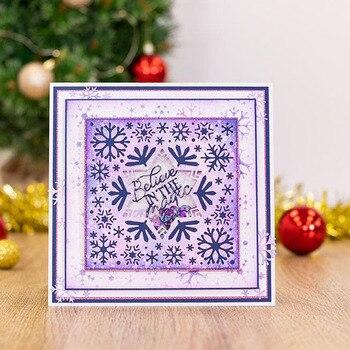 5 uds. Troqueles de corte intercambiables Marco de borde anidado geométrico Feliz cumpleaños Navidad invierno deseos especiales 2020 nuevo