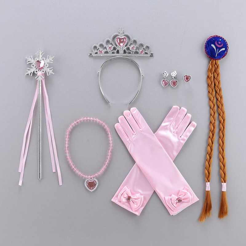 BELOAN Princess Costume Baby Girls Birthday Party Dress Up with Crown Wand Wig Gloves